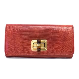 Lanvin Red Leather Wallet