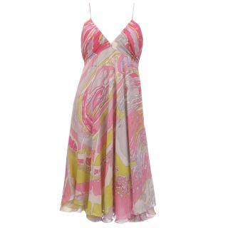 Emilio Pucci Silk Chiffon Signature Print Dress