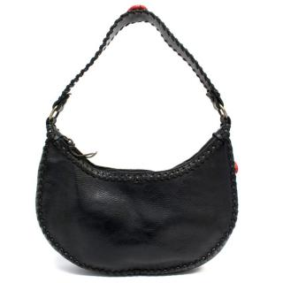 Valentino Black Leather Shoulder Bag