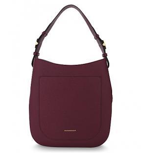 Burberry Elmstone Leather Shoulder Bag