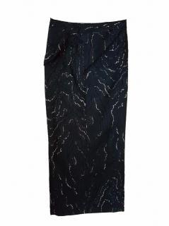 Nina Ricci black textured skirt