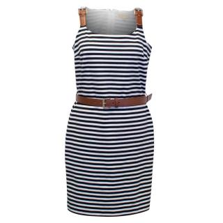 Michael by Michael Kors Striped Black and White Dress