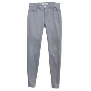 J Brand Light Grey 'Gotham' Skinny Jeans