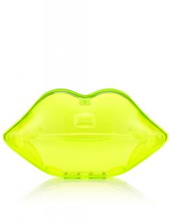 Lulu Guinness Neon Green Lips Clutch Bag