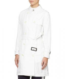 Aquascutum Penrose White Silk Trench Coat
