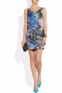 Theyskens' Theory Damara printed silk mini dress