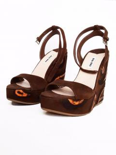 Miu Miu wedge sandals