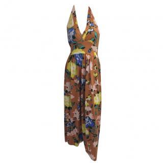 M by Missoni Silk Floral Print Dress.