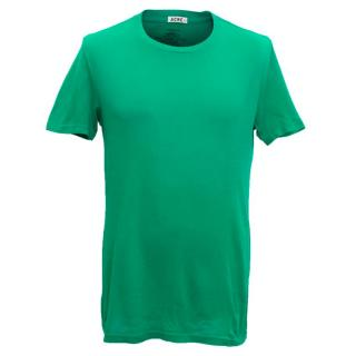Acne Men's Green Cotton Short Sleeved T-Shirt