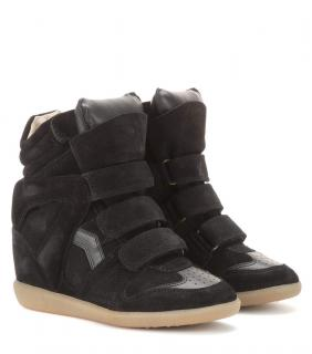 Isabel Marant Etolie Beckett Leather & Suede Wedge Sneakers
