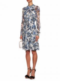 Erdem Devik flower printed silk chiffon dress