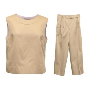 Ermanno Scervino Nude Top and Trouser Set