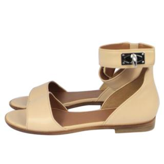 Givenchy Nude Leather Sandals
