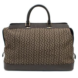 Celine Brown Monogrammed Large Tote Bag