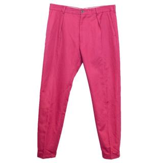 Paul Smith Men's Pink Trousers