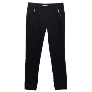 Emilio Pucci Black Elasticated Ribbed Jodhpurs
