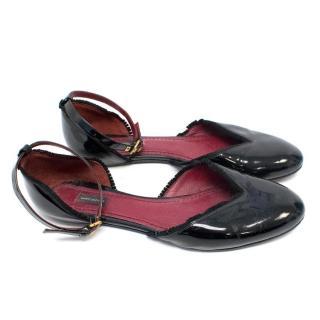 Marc Jacobs Patent Leather Black Ballet Flats