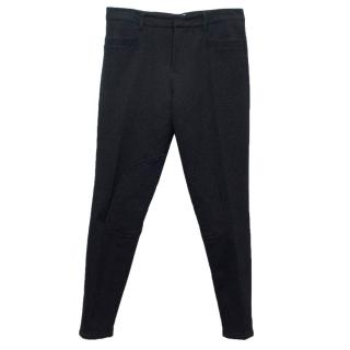 Prada Black Jodhpurs with Zipped Hems