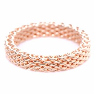 Tiffany & Co 18k Rose Gold Somerset Mesh Ring