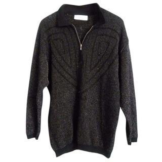 Marc Cain Virgin Wool Black Jumper with details