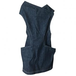 Alexander McQueen asymmetrical demin dress