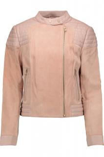 J Brand Cardiff Nude Leather & Suede Jacket
