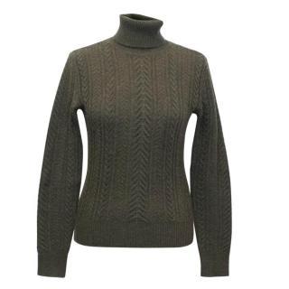 Ralph Lauren Khaki Cable Knit Sweater