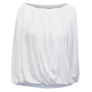 Jil Sander White Sleeveless Top