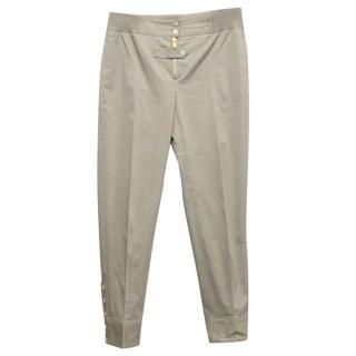 Alexander McQueen Grey Fitted Trousers