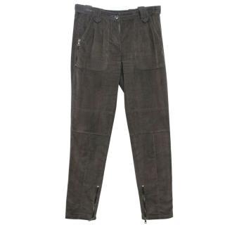 Etro Corduroy Tapered Dark Grey Trousers