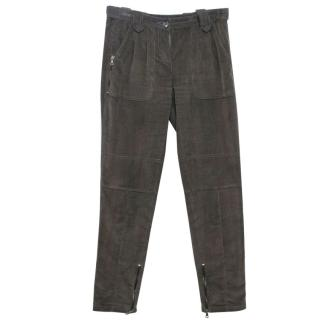 Etro Corduroy Tapered Dark Grey Trousers