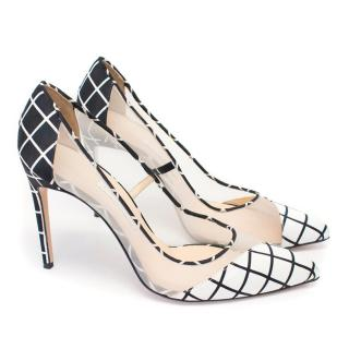 Bionda Castana 'Bay' Black and White Grid Printed Pumps
