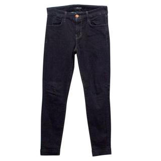 J Brand Anja Nightshade Skinny Jeans with Rolled Hems