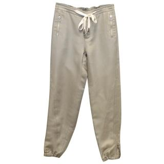 Ermanno Scervino Sage Linen Tapered Trousers