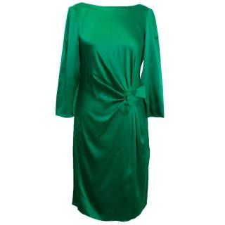 Paule Ka Green Silk Dress