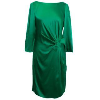Paule Ka Green Silk Dress