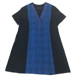 Proenza Schouler Python Blue Black Mini Dress