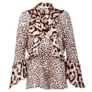 Givenchy Leopard Print Silk Blouse