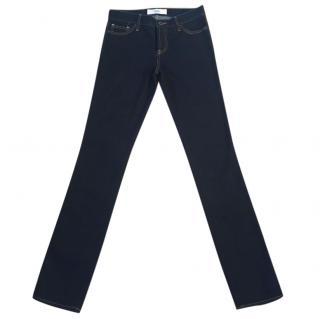 Luella 100% cotton dark indigo blue skinny jeans