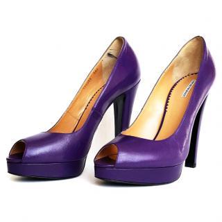 Emporio Armani violet heels