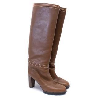 Walter Steiger Brown Tall Heeled Boots