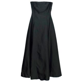 Sportmax MaxMara Black Strapless Jumpsuit Dress