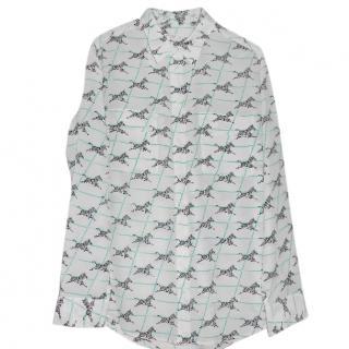 Equipment silk zebra blouse