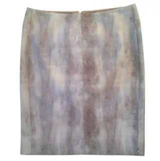 Maison Scotch 'Boudoir' pencil skirt in hues of pink & brown