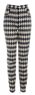 Balmain Black and White Pants