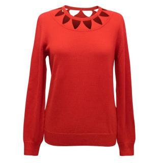 Altuzarra Red Woodward Knitted Jumper