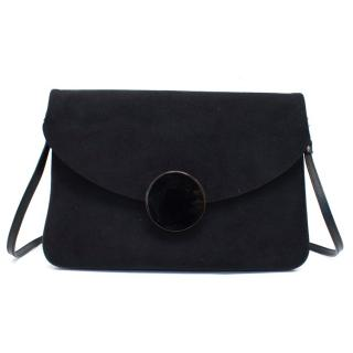 Issey Miyake Black Large Clutch Bag With Strap