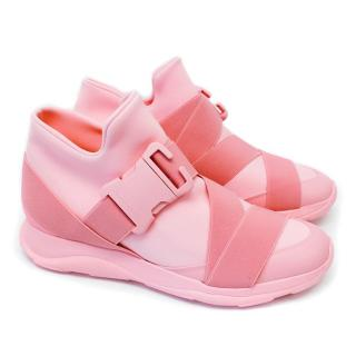 Christopher Kane Pink Safety Buckle Sneakers