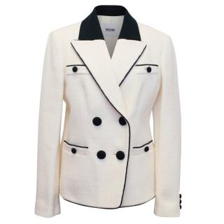 Moschino Cheap And Chic Beige And Black Wool Blazer