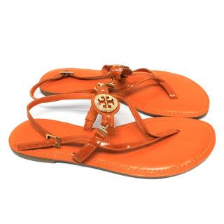 Tory Burch 'Ali' Orange Sandals